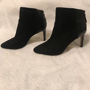 Express suede/leather booties